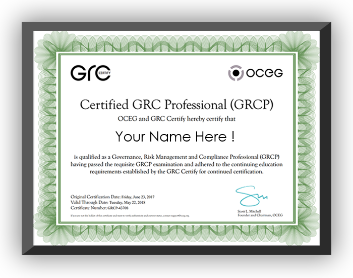 We invented GRC + provide open source standards, education